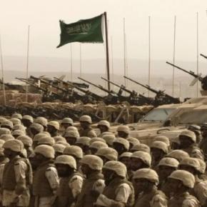Saudi Arabischen Militär an der Grenze zum Jemen.