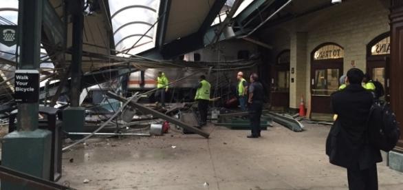Katastrowa kolejowa w Hoboken w stanie Nowy Jork
