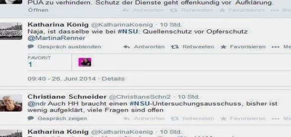 Katharina König zeigt sich zufrieden über die Verhaftung von Brandt, obwohl damit seine Aussage beim NSU-Ausschuss verhindert wurde.