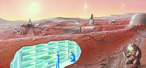 NASA concept of a future Mars colony