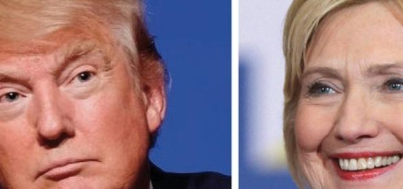 Presidential candidates: Donald Trump and Hillary Clinton. Courtesy: Wikimedia Commons.