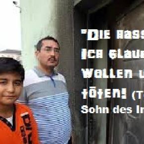 Betroffener Imam mit Sohn: Angst ums Leben