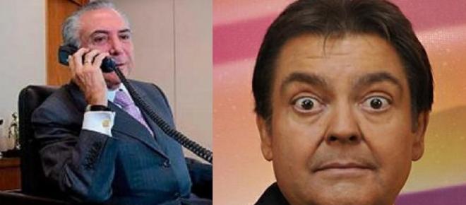Resultado de imagem para Michel Temer telefonou para o apresentador Fausto Silva.