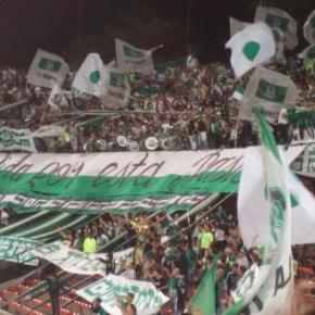 Südkurve der Fans von Atlético Nacional #Verdolaga