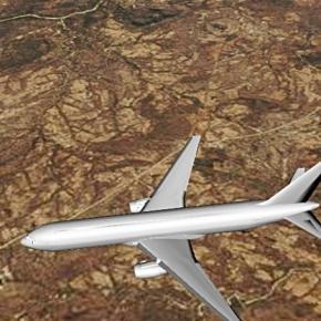 Mugabe's Flight UM1 AZW1 on approach to Harare 3 Sept. Photo screencap via 3D live via Flightradar24.com