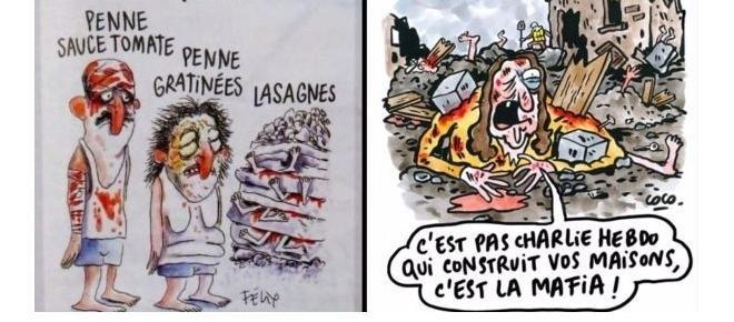 Francia: Indignación en toda Europa por viñetas de Charlie Hebdo sobre terremoto en Italia