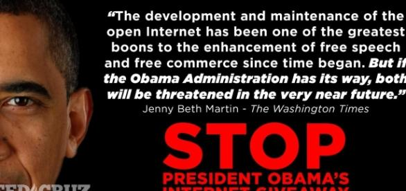 "Ted Cruz on Twitter: ""Stop President Obama's internet giveaway ... - twitter.com"