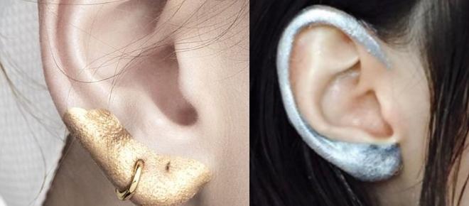 Maquillar las orejas para estar a la moda