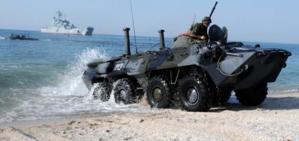 """Exercițiile militare denumite """"Caucaz 2016"""", au început stârnind îngrijorarea Ucrainei"""