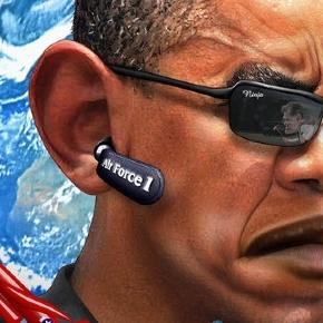 US President Barack Obama caricature. Courtesy: DonkeyHotey via flickr