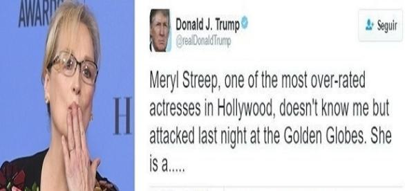 Meryl Streep critica o presidente norte-americano