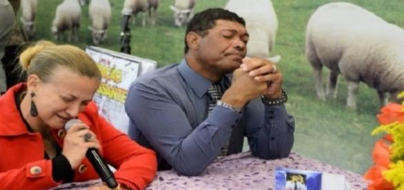 Pastor Valdemiro Santiago e a sua esposa, a bispa Franciléia