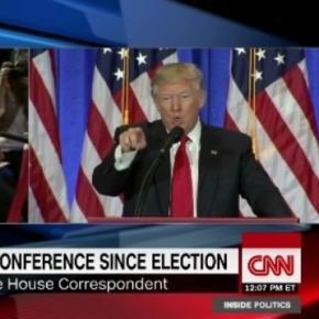 Donald Trump and CNN, via Twitter