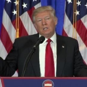 Donald Trump press conference, via Twitter