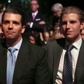 Donald Jr. and Eric Trump, taking over Trump Organization from President Dad / Photo from 'Daily KOs' - dailykos.com