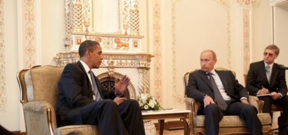 Putin y Obama en su ultima reunion ofical