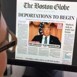 El Boston Globe imagina a Trump como presidente