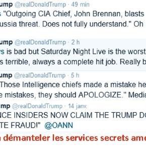 Visiblement, Donald Trump veut démanteler les services américains. Au point de faire frémir le Mossad.