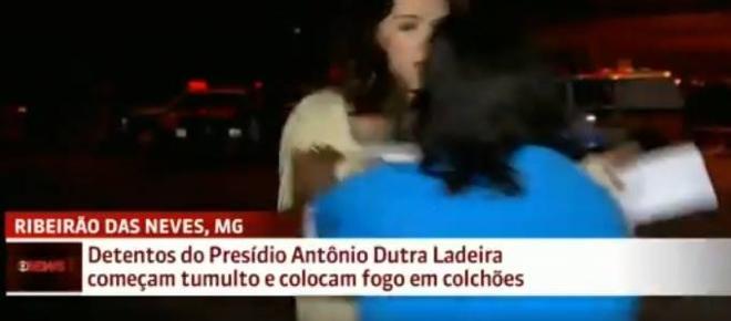 Repórter da Globo News é agredida por parente de preso durante participação em jornal