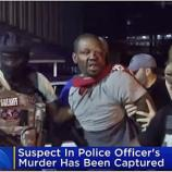Cop Killer Marketh Loyd arrested / Photo screencap from CBS New York via Youtube