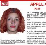 Le portrait robot de la jeune femme retrouvée morte dans le Jura
