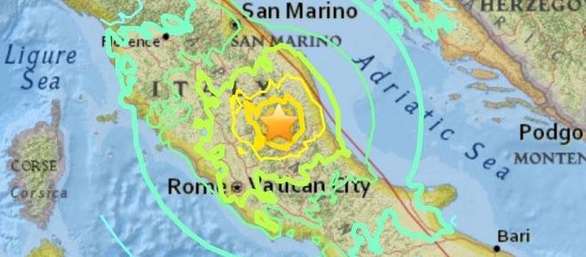 Multiple severe earthquakes hit Italy and big aftershocks still being reported hours later