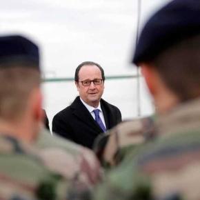 Hollande visita a las tropas francesas en Irak