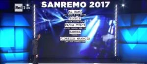Festival di Sanremo dal 7 all'11 febbraio 2017