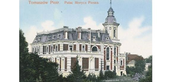 Pałac Piescha ok. roku 1920. Biblioteka Miejska w Tomaszowie, public domain