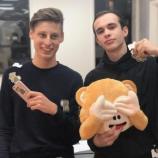 I due giovani ideatori di Monkey