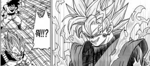 Black transformado en super saiyajin Rose en el manga