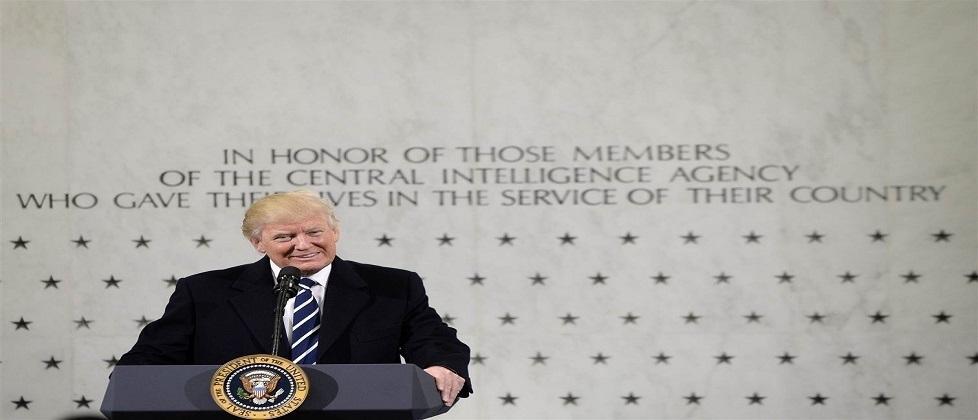 Em discurso na CIA, Trump diz estar em guerra com a mídia