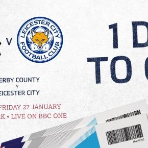 Derby County FC v Leicester City FC match today (Image credits: Twitter.com/EmiratesFACup)