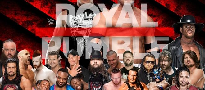 THE WWE ROYAL RUMBLE, THIS SUNDAY!