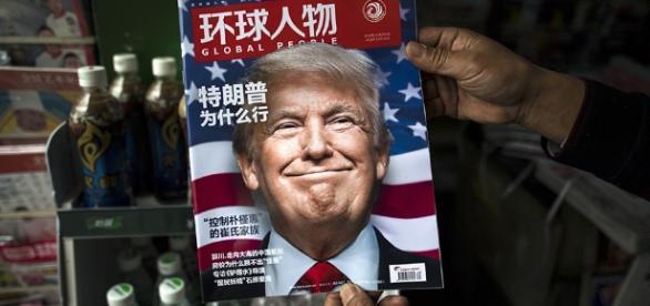 Donald Trump en tapa de revista china