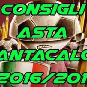 Consigli Asta Fantacalcio 2016-2017