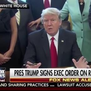 Trump reins in regulations in new order. Fox News (YouTube-Screenshot)