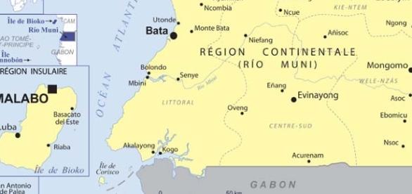 Carte topographique de la Guinée Equatoriale