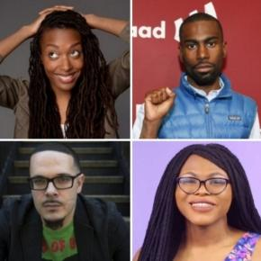 Photo of Franchesca Ramsey, Deray Mckesson, Shaun King, and Kat Blaque (via Wikihow)