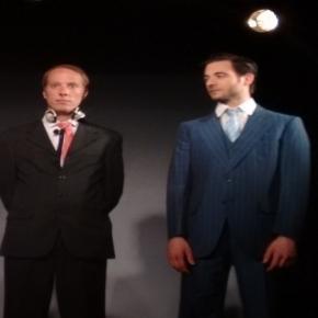 Improvisa2 y Agustín Barovero en el saludo final