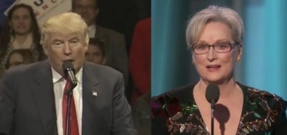 Donald Trump and Meryl Streep, via Twitter