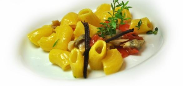 Maccheroncini mare e monti; piatto delicato con minimi ingredienti base