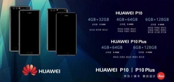 Il leak con il nuovo Huawei P10 con tutte le 5 varianti