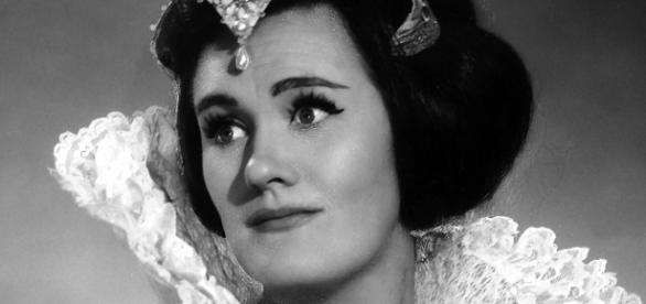 "Joan Sutherland as Lucia, a signature role, propelling her to ""sudden"" fame. Photo: Louis Mélançon/Metropolitan Opera Archives, used with permission."