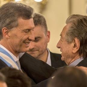 Franco y Mauricio Macri en su asunción