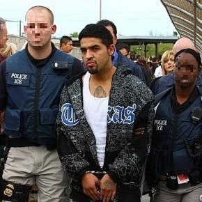 Policja amtyimigracyjna w akcji. ICE Police Galleries, public domain