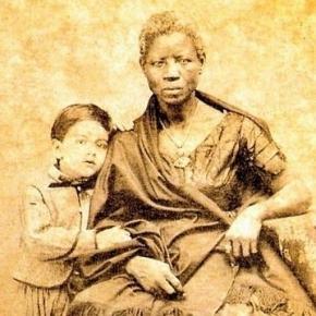 Ein Pflanzersohn mit seinem Kindermädchen, Brasilien 1860, public domain