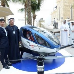 Presentata a Dubai da RTA auto volante (foto APCO Worldwide)