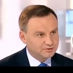 Andrzej Duda dzielnie odpierał ataki dziennikarki.