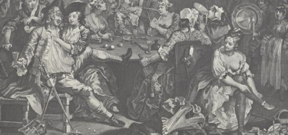 Hogarth A Rake's Progress, wikimedia commons, public domain